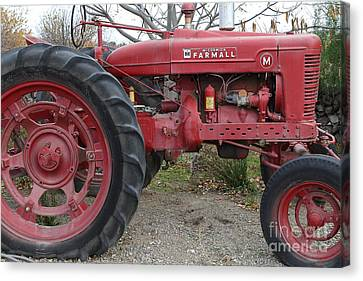 Brentwood Canvas Print - International Harvester Mccormick Farmall Farm Tractor . 7d10323 by Wingsdomain Art and Photography