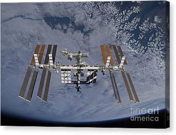 Satellite View Canvas Print - International Space Station Set by Stocktrek Images