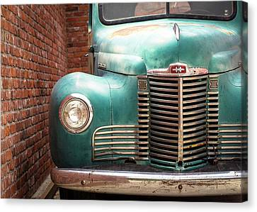 Canvas Print featuring the photograph International Truck 2 by Heidi Hermes