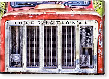 Canvas Print - International Truck Grill by Eclectic Art Photos