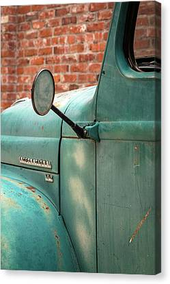 Canvas Print featuring the photograph International Truck Side View by Heidi Hermes