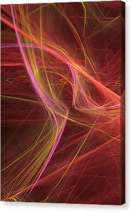 Future Tech Canvas Print - Internet Net by Marina Usmanskaya