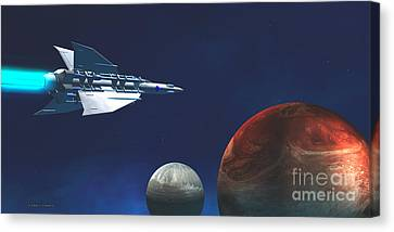Interplanetary Travel Canvas Print by Corey Ford