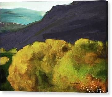 Autumn Scene Canvas Print - Interpretation Of Wyoming Autumn by Lenore Senior