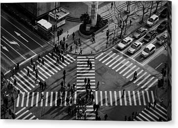 Intersection ( Crossing Alternatives ) Canvas Print by C.s.tjandra