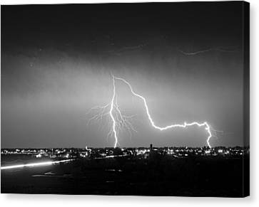 Intersection Black And White Canvas Print by James BO  Insogna