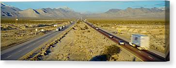 Interstate 15, Near Las Vegas, After Canvas Print by Panoramic Images