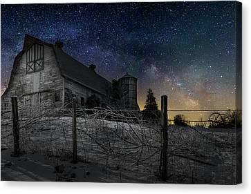 Barn Canvas Print - Interstellar Farm by Bill Wakeley