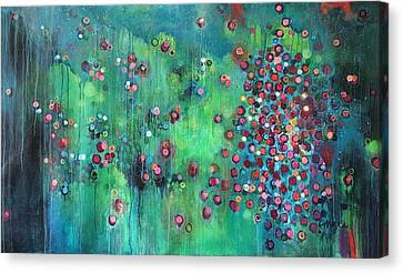 Canvas Print featuring the painting Interstellar, I Want To Paint It Black by Laurie Maves ART