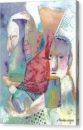 Intervention In Abstract Canvas Print