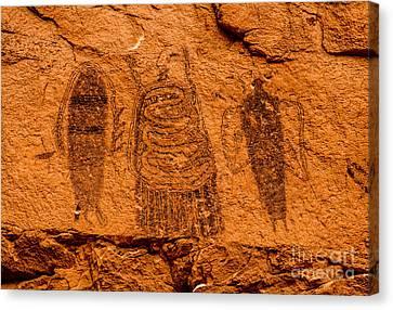 Intestine Man Pictograph - Moab - Utah Canvas Print by Gary Whitton