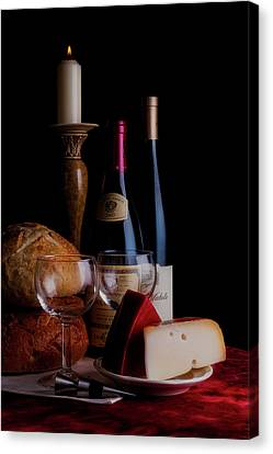 Candle Lit Canvas Print - Intimate Evening by Tom Mc Nemar