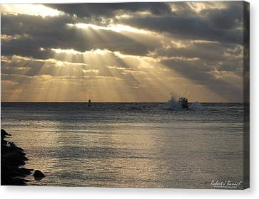 Into Dawn's Early Rays Canvas Print