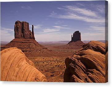 Into Monument Valley Canvas Print by Andrew Soundarajan