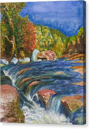 Into Slide Rock Canvas Print by Eric Samuelson