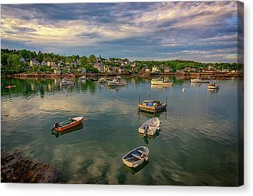 Penobscot Bay Canvas Print - Into Stonington Harbor by Rick Berk