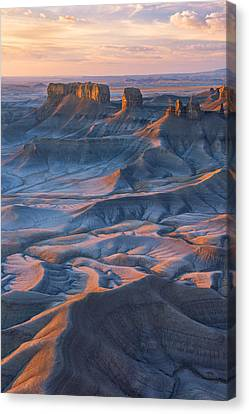 Canvas Print featuring the photograph Into The Badlands by Dustin  LeFevre