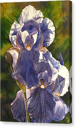 Canvas Print featuring the painting Into The Blue by Alfred Ng