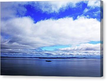 Into The Blue Canvas Print by Debbie Oppermann