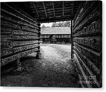 Into The Dogtrot Barn Canvas Print