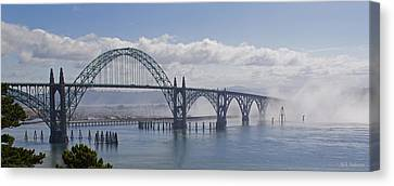 Into The Fog At Newport Canvas Print
