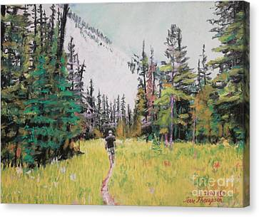 Canvas Print featuring the painting Into The Hike by Terri Thompson