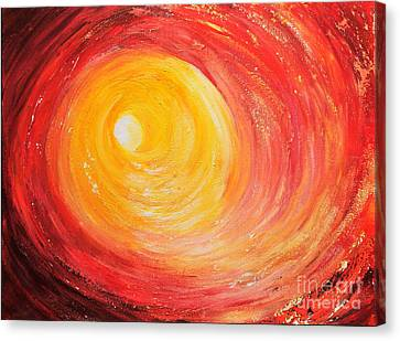 Canvas Print featuring the painting Into The Light by Teresa Wegrzyn