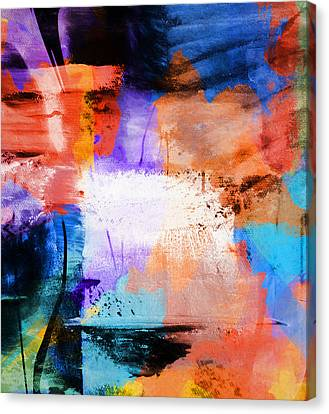 Canvas Print featuring the painting Into The Open by Dan Sproul