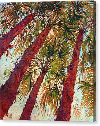 Palm Springs Canvas Print - Into The Palms - Diptych Left by Erin Hanson