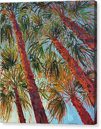 Palm Springs Canvas Print - Into The Palms - Diptych Right Panel by Erin Hanson