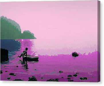 Canvas Print featuring the photograph Into The Stillness - Pink by Lyle Crump
