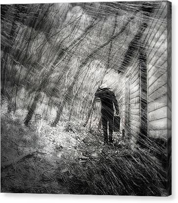 Canvas Print featuring the photograph Into The Storm by Gray  Artus