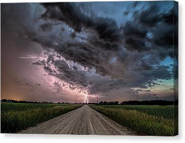 Into The Storm Canvas Print by John Crothers