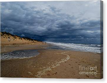 Canvas Print featuring the photograph Into The Storm by Linda Mesibov