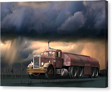 Into The Storm Canvas Print by Stuart Swartz
