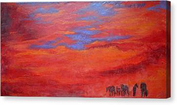 Into The Sunset Canvas Print by Gabrielle England