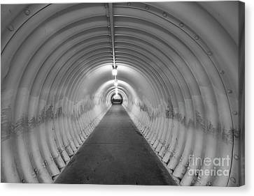 Canvas Print featuring the photograph Into The Tunnel by Juli Scalzi