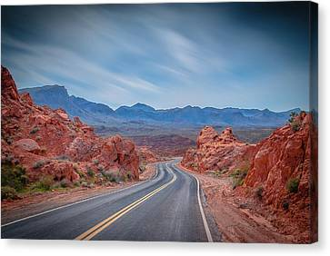 Into The Valley Of Fire Canvas Print by Mark Dunton