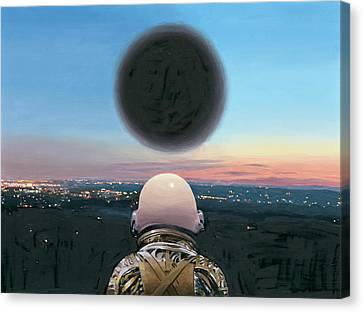 Astronauts Canvas Print - Into The Void by Scott Listfield