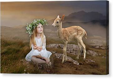 Canvas Print featuring the mixed media Into The Wild by Marvin Blaine