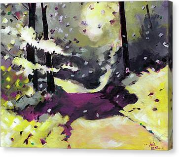 Canvas Print featuring the painting Into The Woods 2 by Anil Nene