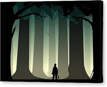 Into The Woods Canvas Print by Nestor PS