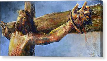 Canvas Print featuring the painting Into Your Hands by Andrew King
