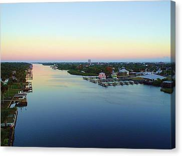 Intracoastal Rainbow Sky Canvas Print