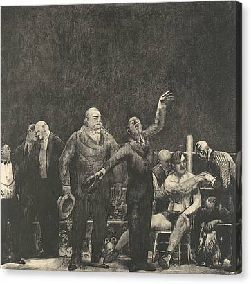 Sullivan Canvas Print - Introducing John L. Sullivan by George Bellows