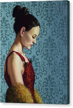 Women Canvas Print - Introspection by Philip Taylor