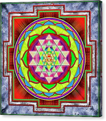 Yantra Canvas Print - Intuition Sri Yantra 1 by Dirk Czarnota