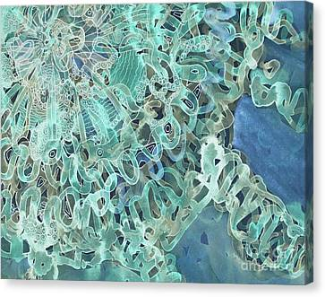 Intuition Unraveled Deep Ocean Canvas Print