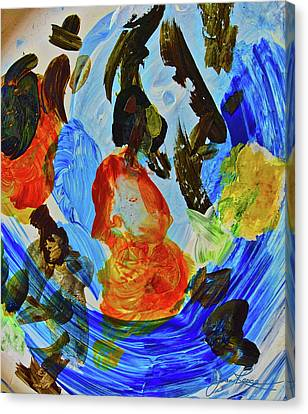Canvas Print featuring the painting Intuitive Painting  215 by Joan Reese