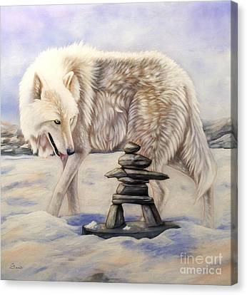 Inuksuk Canvas Print by Sandi Baker